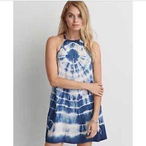 American Eagle Dress Tie Dye Blue Midi M